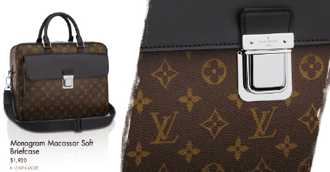 Louis Vuitton Macassar Soft Briefcase