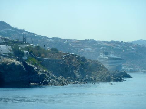 Approaching Mykonos