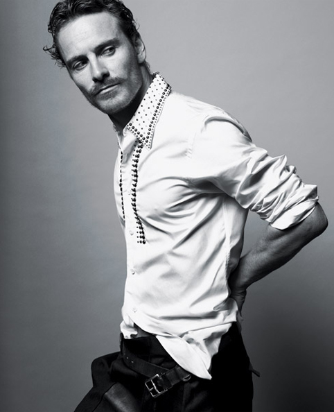 Michael Fassbender in Prada